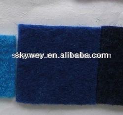 ribbed black and blue carpet
