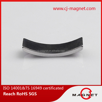 manufacturers in china arc N52 neodymium magnet for solar energy