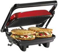 Automatic Electric Commercial Grill Breakfast Panini Press Sandwich Hamburger Makers Toasters with Non-stick Cast Aluminum Plate