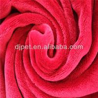 high quality rose red solid color super flannel blanket