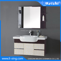 1000 mm wall hung pvc bathroom furniture antique
