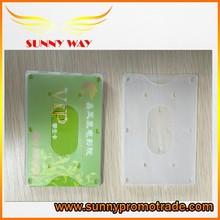 2015 transparent plastic card holder
