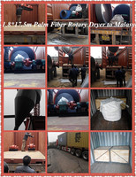 High Quality Oil Palm Fiber Rotary Dryer to Malaysia