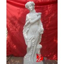 park decoration lady statue with grape