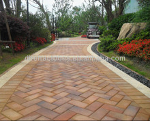 sintered clay paving/garden/square bricks for price
