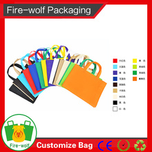 Used Packing Gifts Red Eco-Friendly Silkscreen Non-Woven Tote Bag