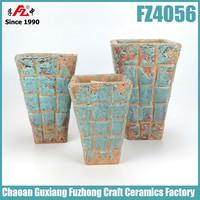 Hot selling rectangular large glazed plant pots