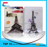 PU leather material smart case for ipad smart , for ipad smart case cover ,custom smart tablet case