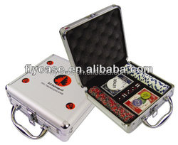 aluminum Poker set with roulette cheap poker chip set