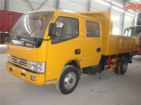 factory sale double cab tipper truck 5 tons loading capacity