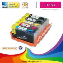 Inkstyle refillable cartridge H564 for HP PhotoSmart C5373/C5380/C5383/C5388/C5390/C5393 with chip