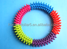 five color rubber thorn ring--more color more fun