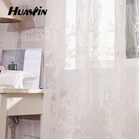 100% polyester lace jacquard window curtain,Wholesale knitted window curtain fabric