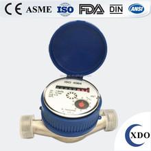 Factory Price dry type vane wheel single jet water meter, single jet water flow meter