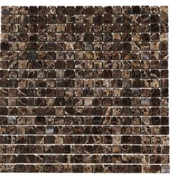Good clean emperador dark 1''x1'' polished marble mosaic tiles for floor