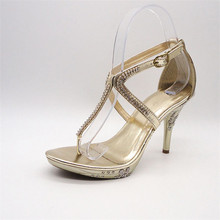 Export to UK bronze wedge fashion shoes ladies
