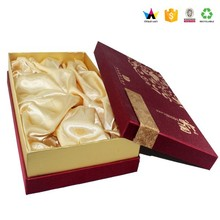 Wine glass gift boxes wholesale , Fancy packaging gift boxes for wine ,Lid and base packaging box design