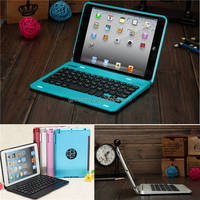 Top Quality 5 colors Dustproof 2 in1 Bluetooth 3.0 Wireless Keyboard Foldable Case Stand Cover Holder for iPad Mini 1 2 3