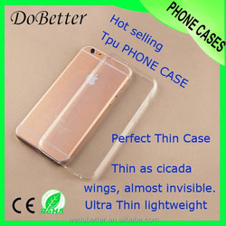 Ultra slim clear color TPU case for iphone 6 plus,for iphone 6 plus soft silicone phone case