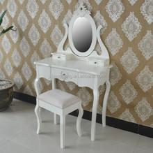 New Design Mirror European Style Black Pine Dresser, Dressing Table