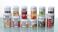 High quality flip up kitchen organised easy lock airtight plastic dry food storage container