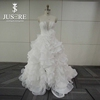 Latest Design Real Sample High Low Ruffle Skirt Cinderella Suzhou Wedding Dress