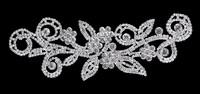 Wedding Bridal sew on crystal rhinestone applique patch for dresses