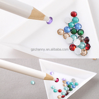 Brand New Rhinestones Picker Pencil Nail Art Tool Wax White Pen For Craft Gem Crystal