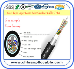 Steel Tape Layer Loose Tube Outdoor Cable GYTA 2~144core from factory Steel wire/FRP pricelist