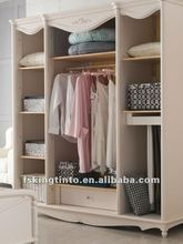 King size 4-door wardrobe (628) white color and modern stylish