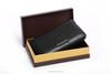 2014 Hot sell Elegant Fashion Rfid Blocking Leather Front Pocket Wallet Id Card Passport produce with your own logo