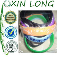 famous company slogan bangles silicone rubber bands