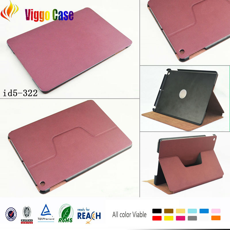 2014 hot selling for ipad air case, nontoxic pc+pu, 360 degree rotate for ipad case