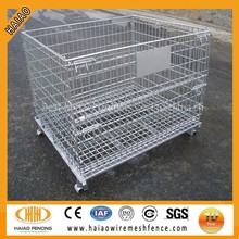 Folding Wire Mesh Container/ Stackable Storage Cage/ Metal Basket