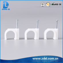 Round Cable Clips with Steel Nail