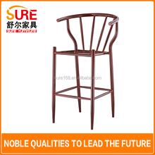 nuovo design telaio in acciaio sedia da pranzo in stile francese