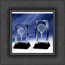 good quality exquiste personal design crystal golf ball for honer awards