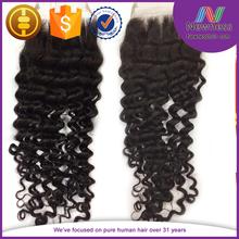 Malaysian brazilian deep curl closure /jerry curl top closure pieces