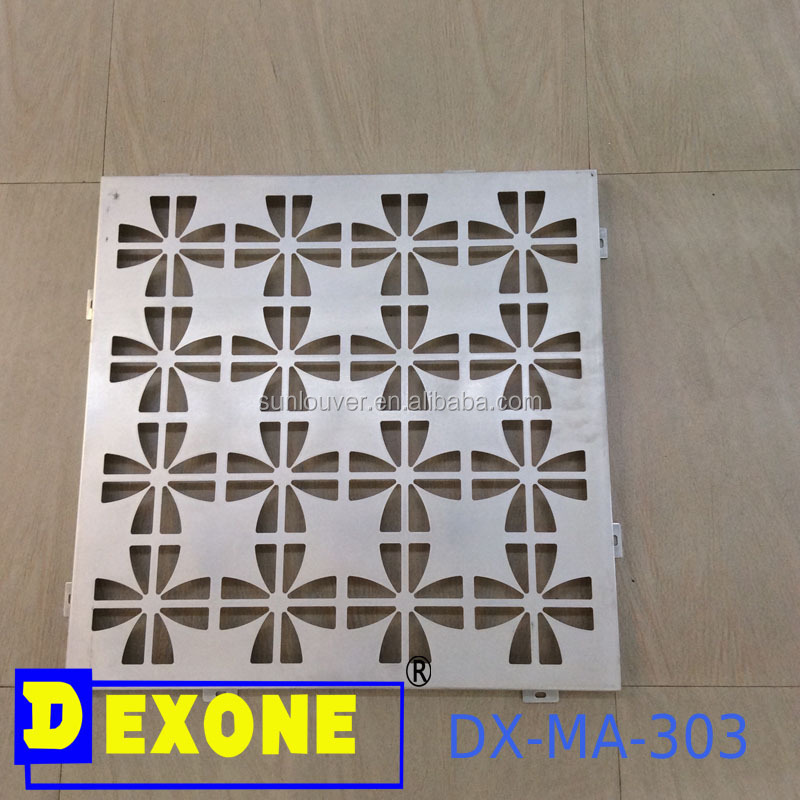 Metal aluminium engraved laser cut decorative panel sheet
