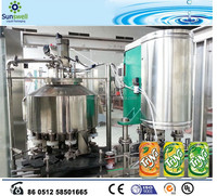 Automatic carbonated soft drink canning machine
