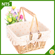 Square Woven Natural Wicker Basket
