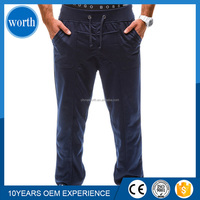 men cheap easy cargo sweat pants with side pocket