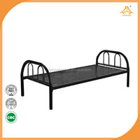 office furniture school furniture steel pipe bed single bed 1 layer bed
