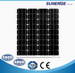 Monocrystalline solar panel 18V with high effiency for 70W
