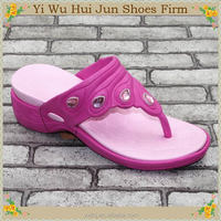 Most Popular Close Toe Cotton Slippers Terry Slippers High Heel Wedges Flip Flop