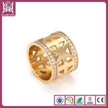 latest new design gemstone gold finger ring