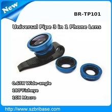 3 in 1 pipe shape ojo de pez photo lens for iphone 5