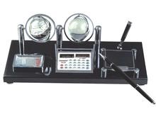 Fashion desktop wooden clock pen holder clock with calendar