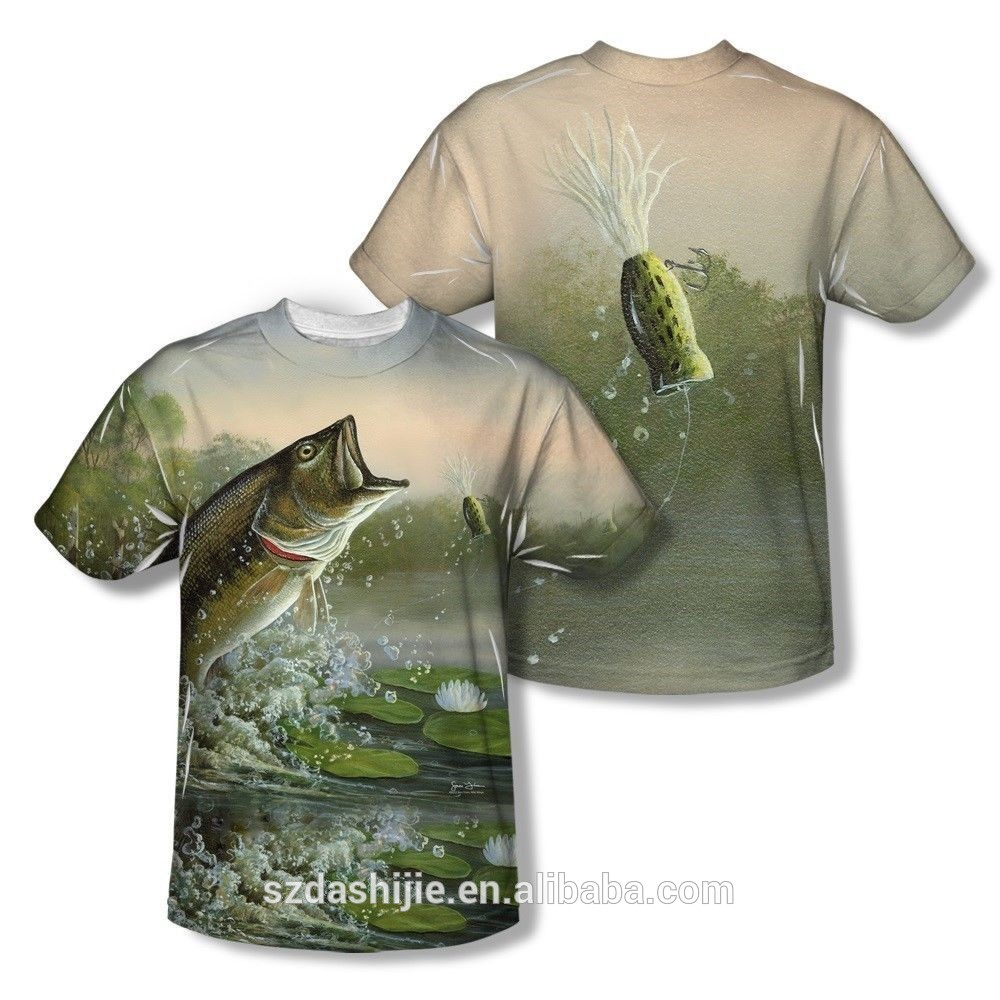 China factory 100 polyester fishing jersey mens dry fit for Polyester fishing shirts