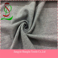 Double faced wool knitted fabric